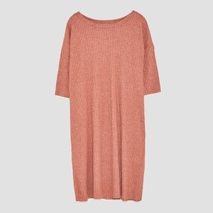 Zara Pink Textured Dress
